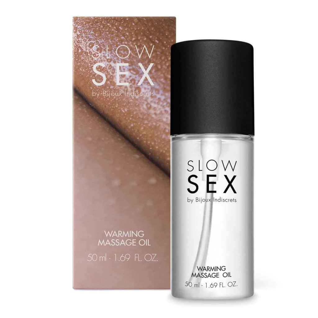 slow sex verwarmende massageolie